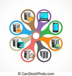 technologie, infographics