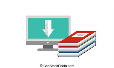technologie informatique, ebook, bureau