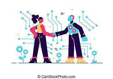 technologie, intelligence, artificiel, ai, élevé