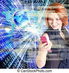 technologie, internet