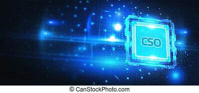 technologie, jeune, voit, inscription:, homme affaires, virtuel, concept., réseau, business, cso, lunettes, internet, fonctionnement, réalité