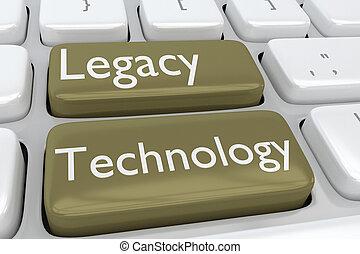 technologie, legs, concept