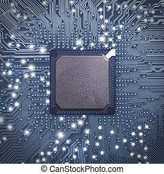 technologie, microchip, elektronisch