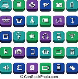 technologie moderne, icônes