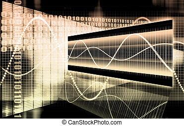 technologie, multimédia, données
