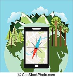 technologie, navigatiesysteem