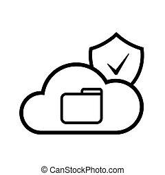 technologie, nuage, internet
