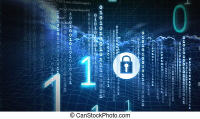 technologie, numérique, 4k, code, animation, binaire
