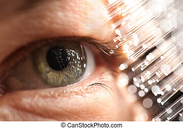 technologie, optica, vezel, oog, amd