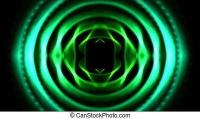 technologie ordinateur, vert, tunnel, rond
