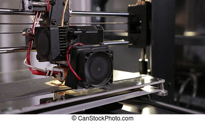 technologie, partie, 3d, plastique, caractères, imprimante, ...
