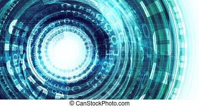 technologie, portail