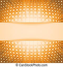 technologie, quadrate, mit, orange, leuchtsignal, burst.,...