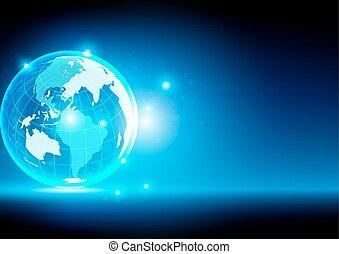 technologie, résumé, global, illustration, arrière-plan., vecteur