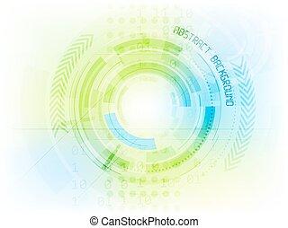technologie, résumé, vecteur, avenir, fond