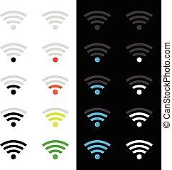 technologie sans fil, icônes