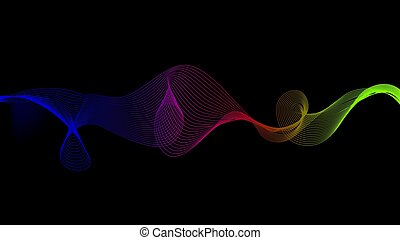 technologie sonore, fond, vague