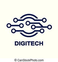 technologie, symbole, -, technologie, logo, biotechnologie, icône