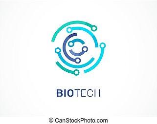 technologie, symbole, -, technologie, logo, icône