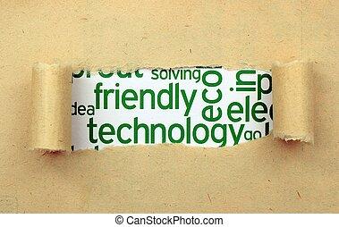 technologie, vriendelijk