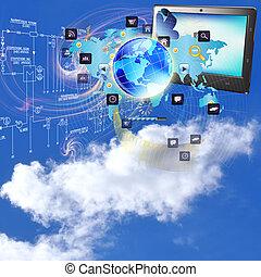 technologien, internet