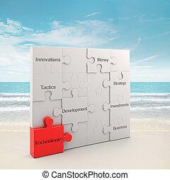 technologies, concept, puzzle