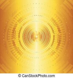 technologies, fond jaune