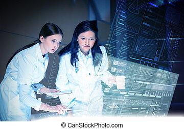 technologies modernes, dans, médecine
