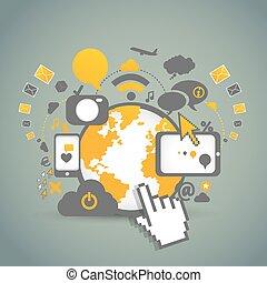 technologies, réseau, communauté