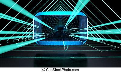 technologique, virtuel, résumé, fond, réalité
