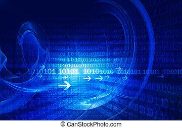 technologisch, achtergrond, hi-tech