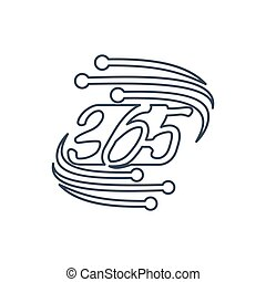 technology 365 infinity logo icon design illustration outline