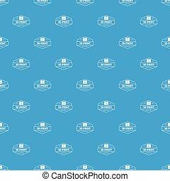 Technology 3d printing pattern vector seamless blue