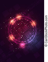 abstract digital technology business concept dark background