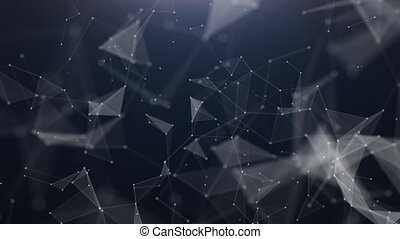 Technology abstract triangle background