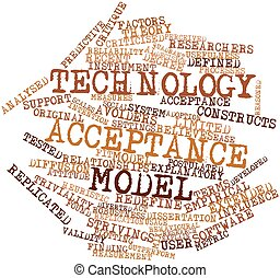 Technology acceptance model - Abstract word cloud for...