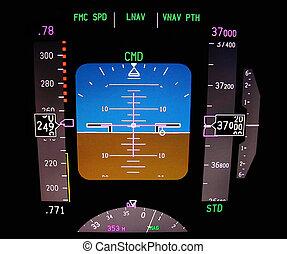 Technology: aircraft flight deck at