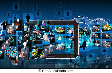 technology and business background
