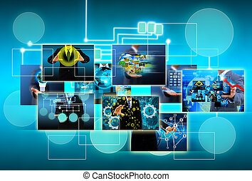 technology and business concept