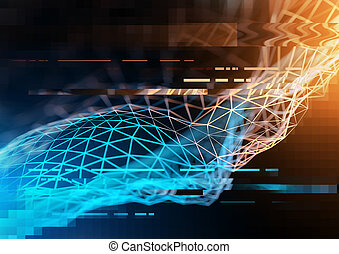 Technology And Business visualization - Complex technology...