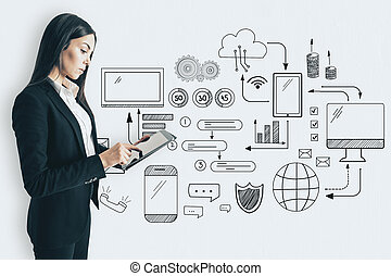 Technology and communication concept