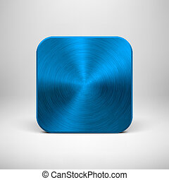 Technology App Icon with Blue Metal Texture