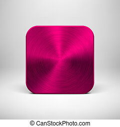 Technology App Icon with Magenta Metal Texture - Technology...