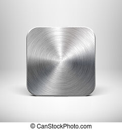 Technology app icon with metal texture for ui - Abstract...