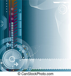 Technology Background - Abstract technology digital...