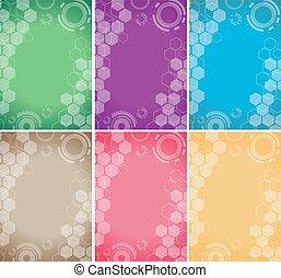 technology background color set