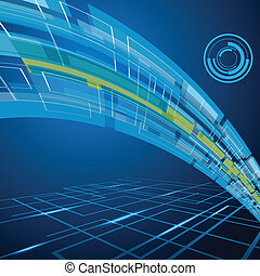 Technology Background - easy to edit vector illustration of ...