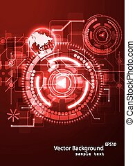 technology background - Vector illustration of abstract...