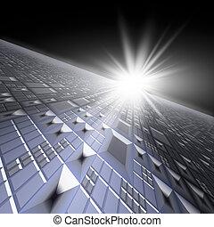 Technology Background Horizon