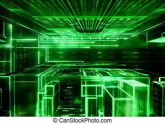Technology background - illustration (02)